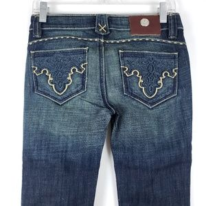 Nwt Antik Embroidered Pocket Bootcut Jeans Size 25